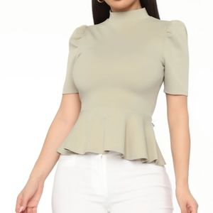 Sage colored top